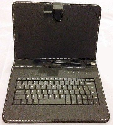 "10 ""Inch PU Leather Black Case Cover USB Keyboard Stylus with for Android Tablet"