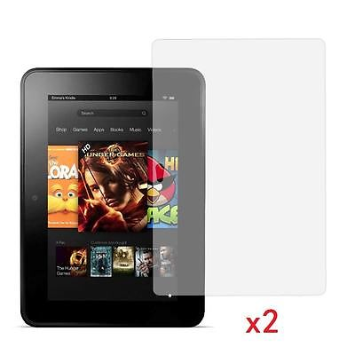 "2 X Clear Screen Protector Guard for 7"" inch Amazon Kindle Fire HD 16/32 GB WIFI"