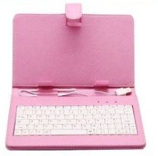7'' Inch Black/White/Pink Leather Case Cover USB Keyboard Stylus Android Tablet