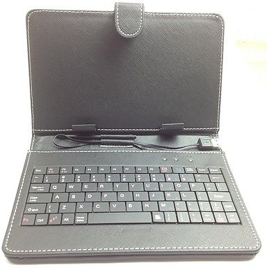 "7 "" Leather Case Cover Keyboard Stylus with USB Wired for Android Tablet"